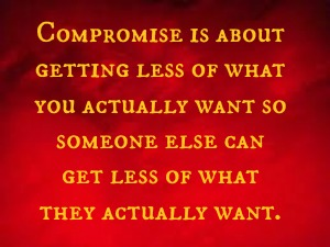What is compromise in a relationship